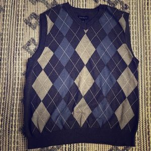 Club Room Argyle Sweater Vest V-Neck Men's Large